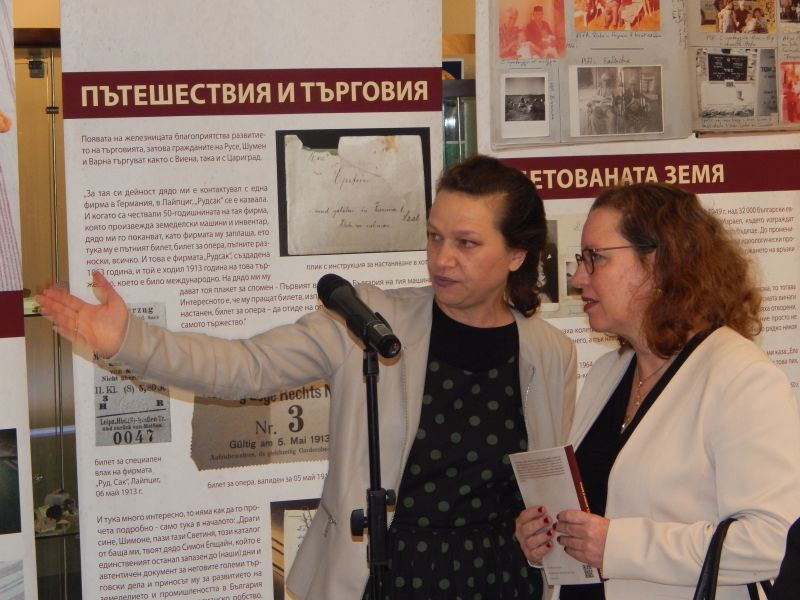 The Israeli Ambassador in Bulgaria, H.E. Iritis Lillian honored the exhibition opening